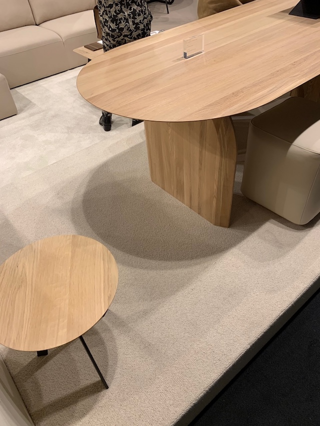 """dining table """"slot"""" and pouf 